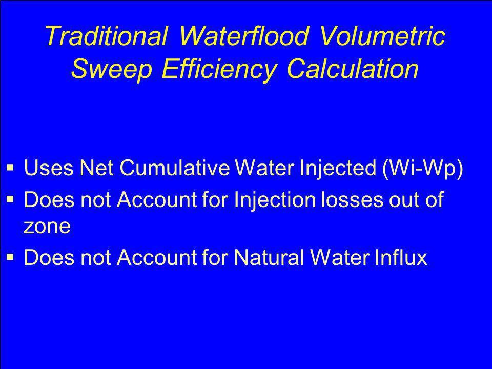 Traditional Waterflood Volumetric Sweep Efficiency Calculation