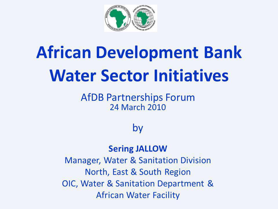 African Development Bank Water Sector Initiatives