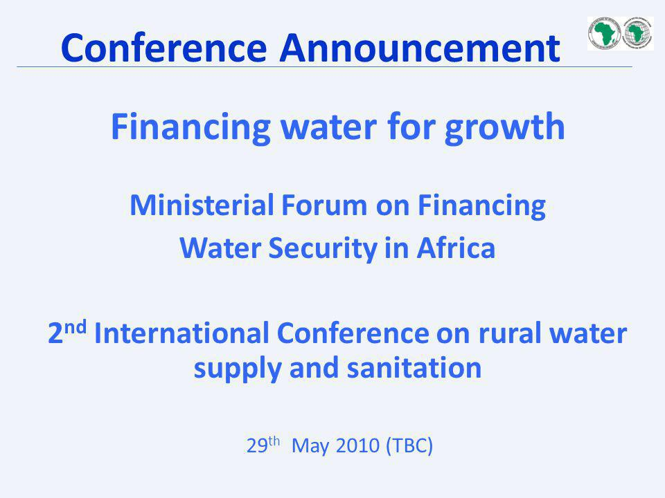 Financing water for growth