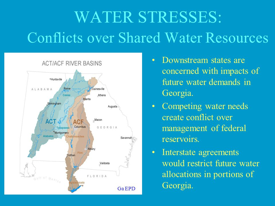 WATER STRESSES: Conflicts over Shared Water Resources