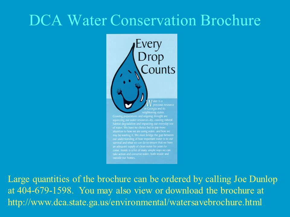 DCA Water Conservation Brochure