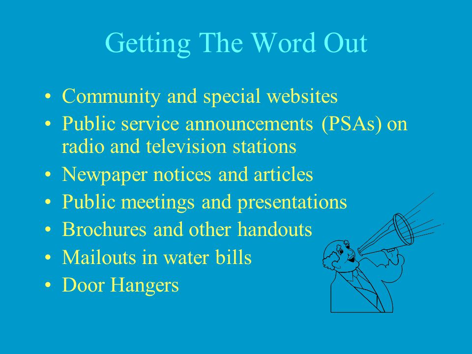 Getting The Word Out Community and special websites