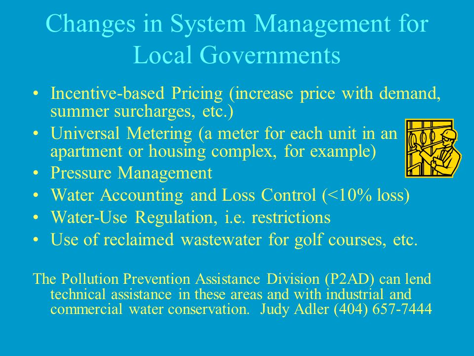Changes in System Management for Local Governments