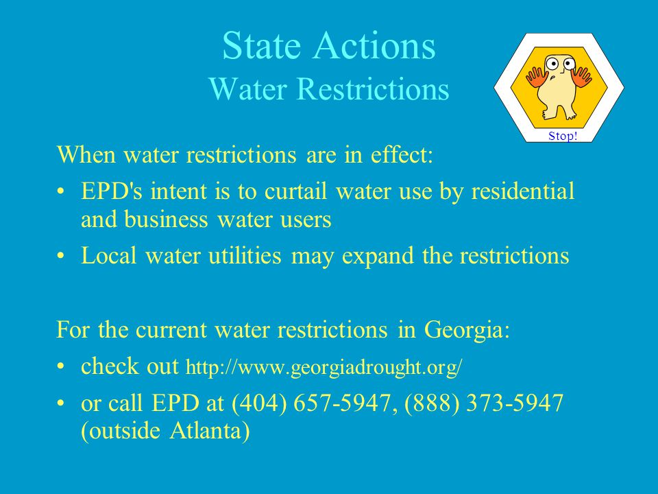 State Actions Water Restrictions