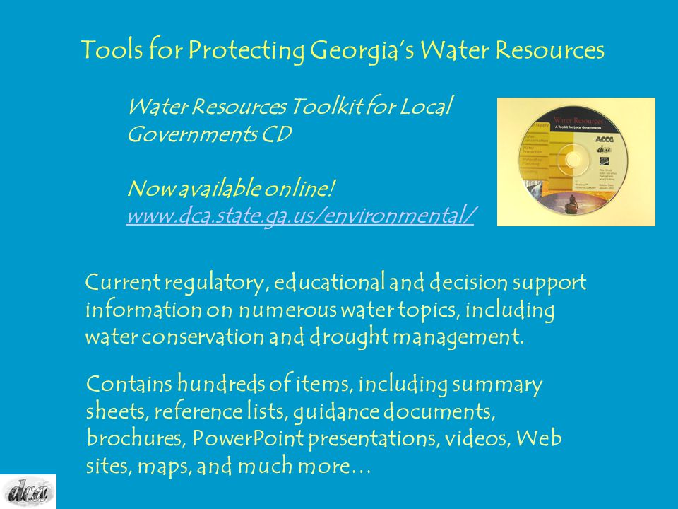 Tools for Protecting Georgia's Water Resources