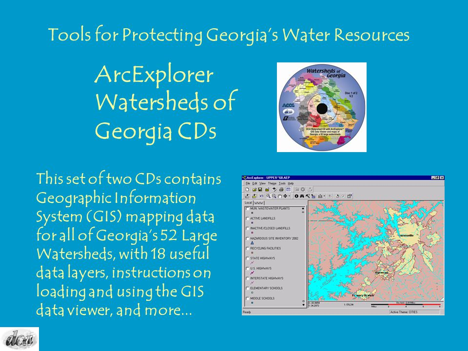 ArcExplorer Watersheds of Georgia CDs