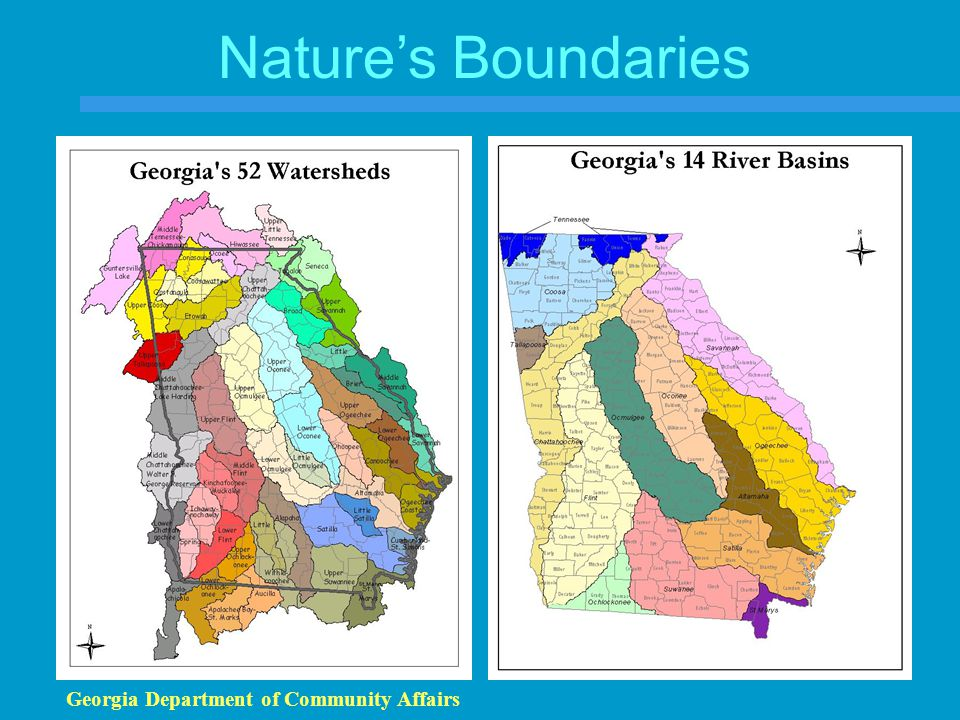 Nature's Boundaries Georgia Department of Community Affairs