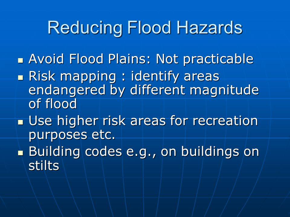 Reducing Flood Hazards