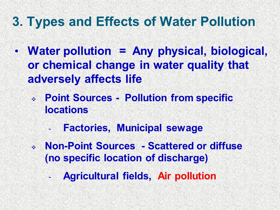 3. Types and Effects of Water Pollution