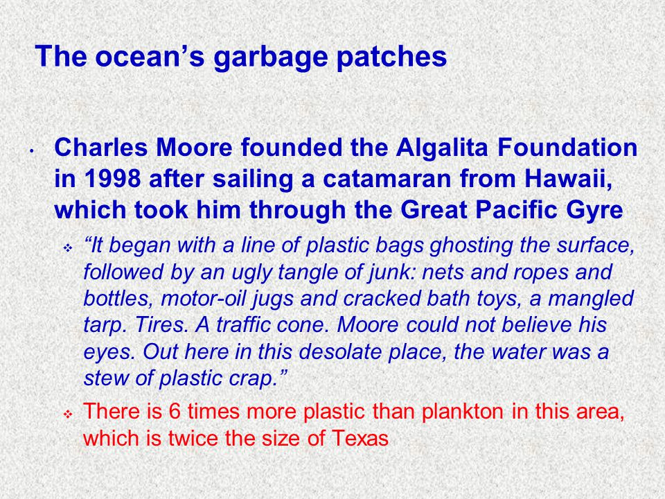The ocean's garbage patches