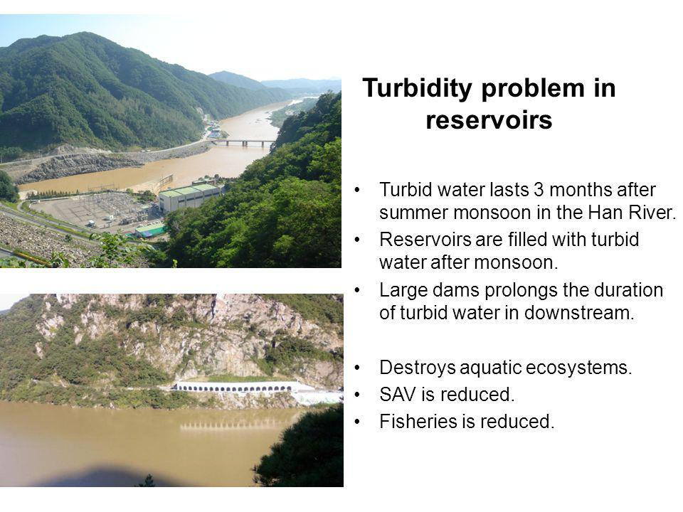 Turbidity problem in reservoirs
