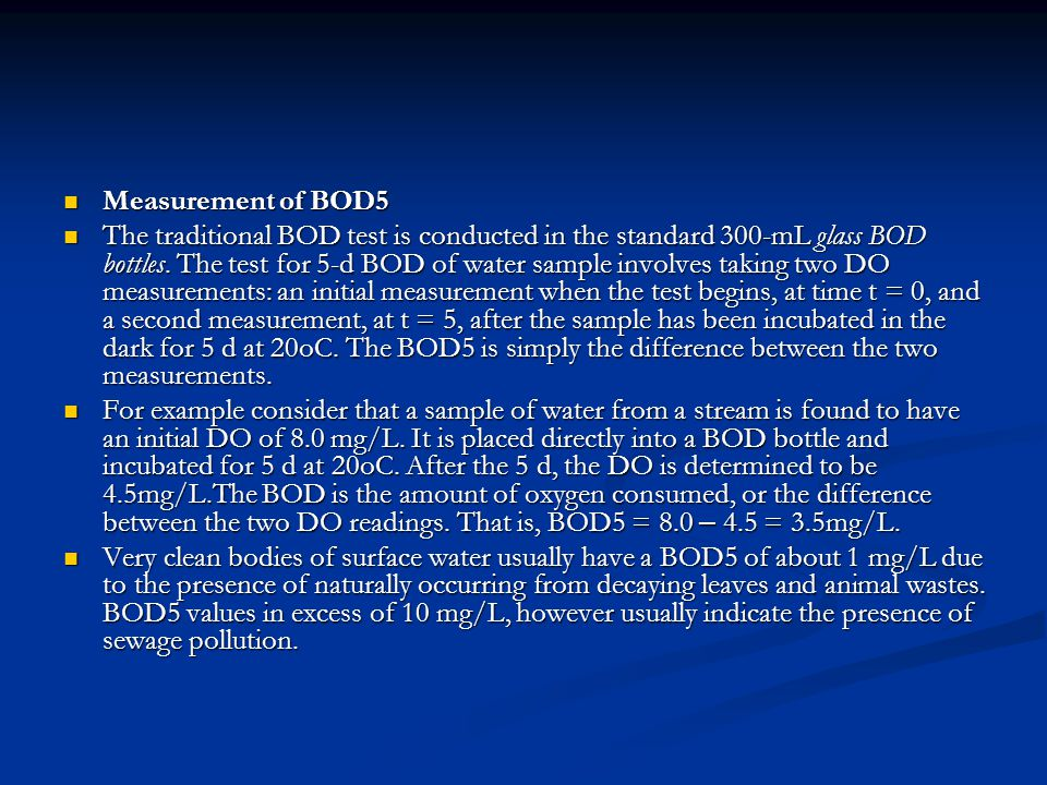 Measurement of BOD5