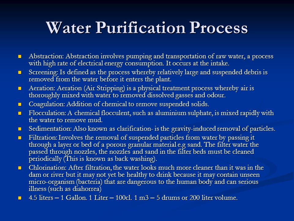 Water Purification Process