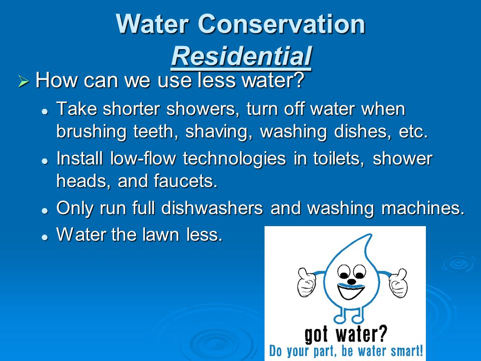 Water Conservation Residential
