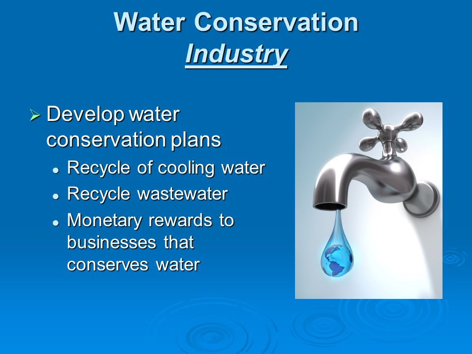 Water Conservation Industry