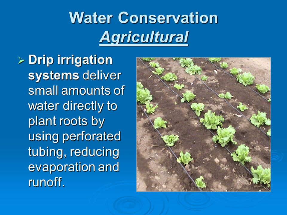 Water Conservation Agricultural