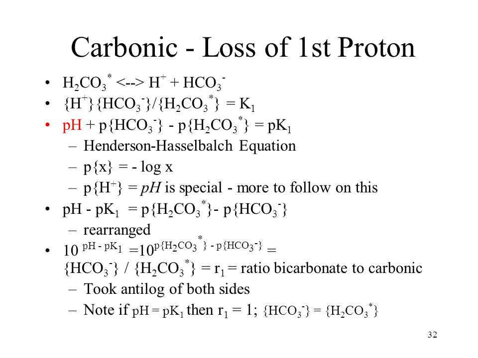 Carbonic - Loss of 2nd Proton