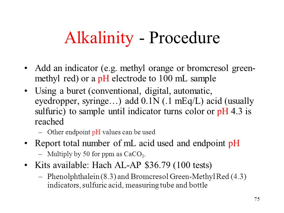 How to Calculate Alkalinity After Titration