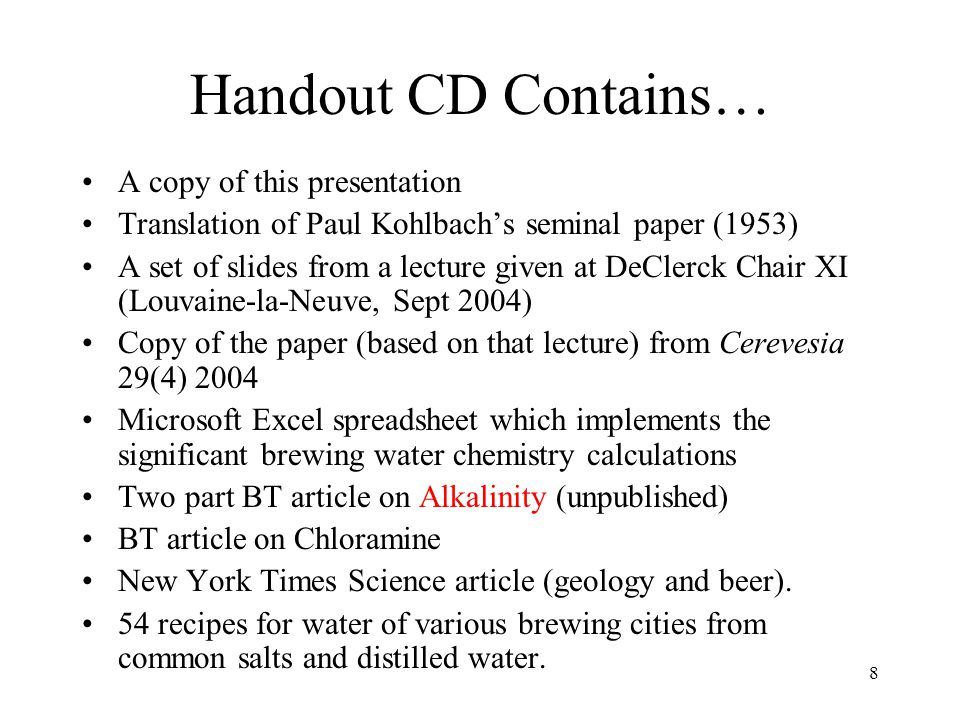 Part 0 Overview - Beer and Water