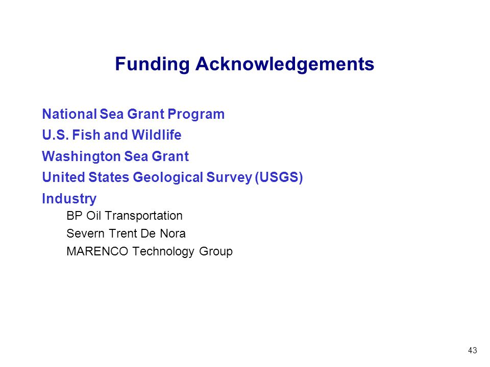 Funding Acknowledgements