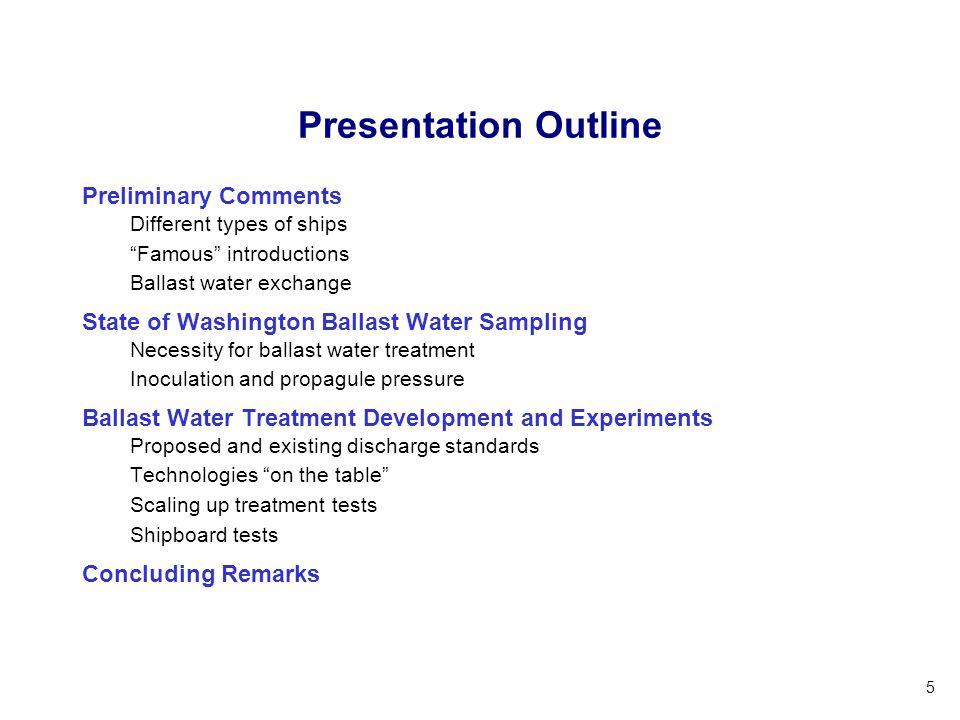 Presentation Outline Preliminary Comments