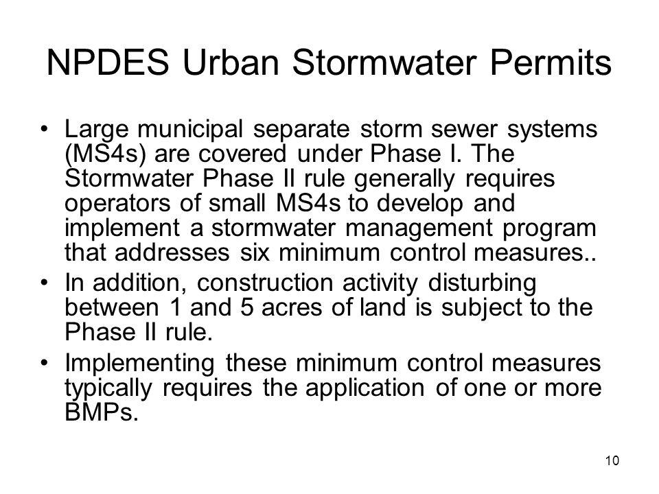 NPDES Urban Stormwater Permits