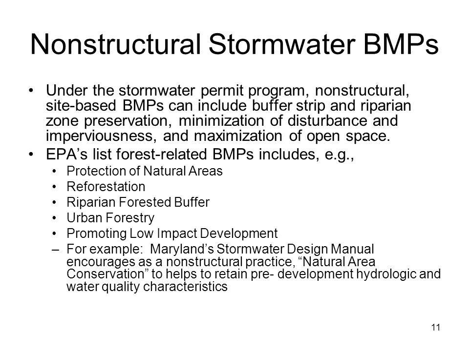 Nonstructural Stormwater BMPs