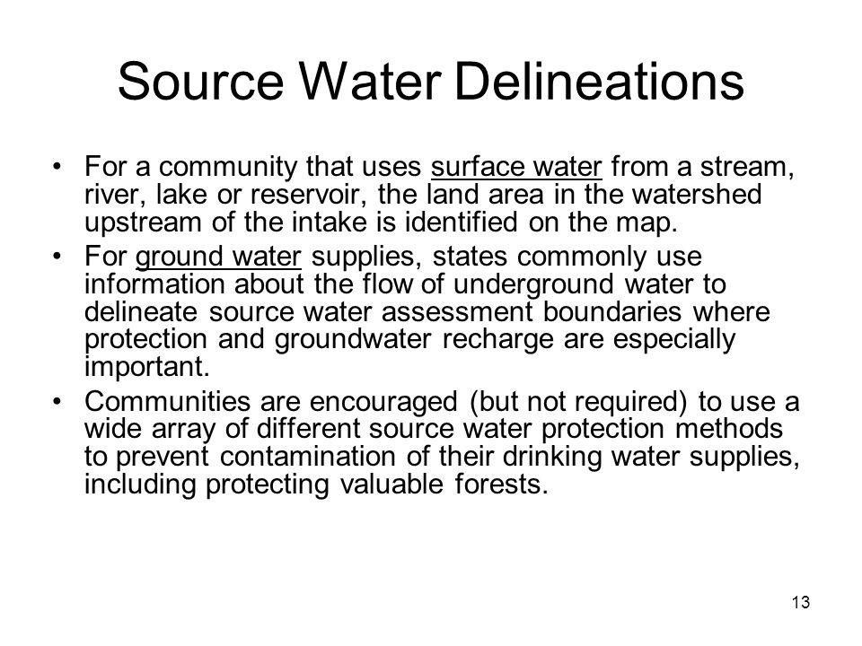 Source Water Delineations