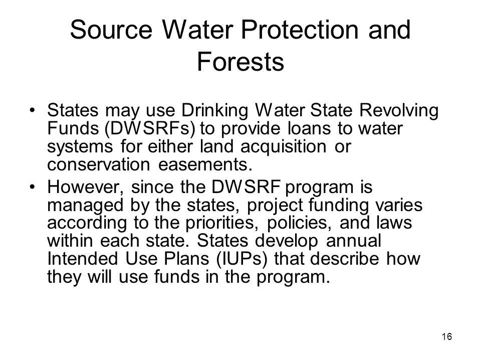 Source Water Protection and Forests