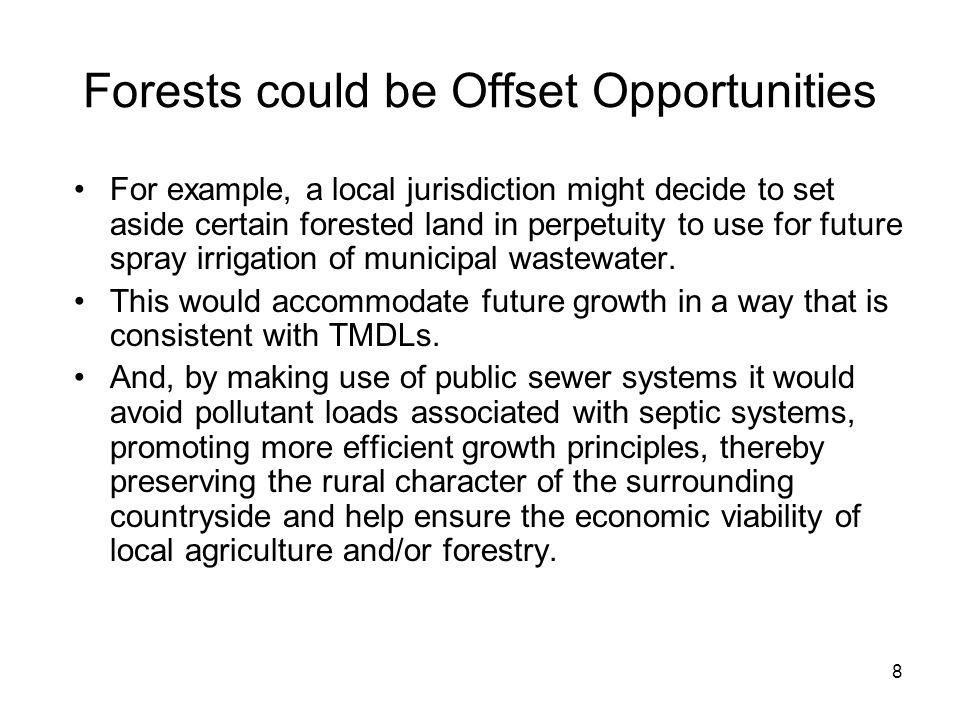 Forests could be Offset Opportunities