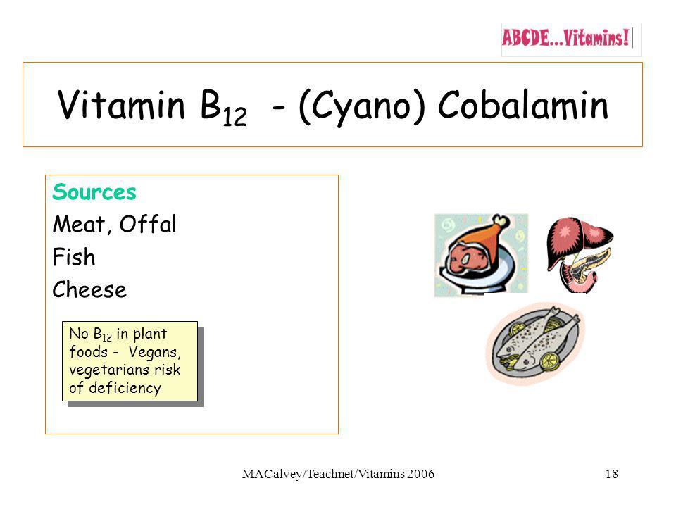 Vitamin B12 - (Cyano) Cobalamin