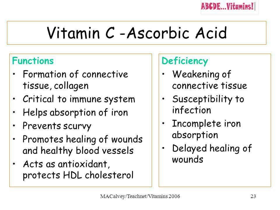 Vitamin C -Ascorbic Acid