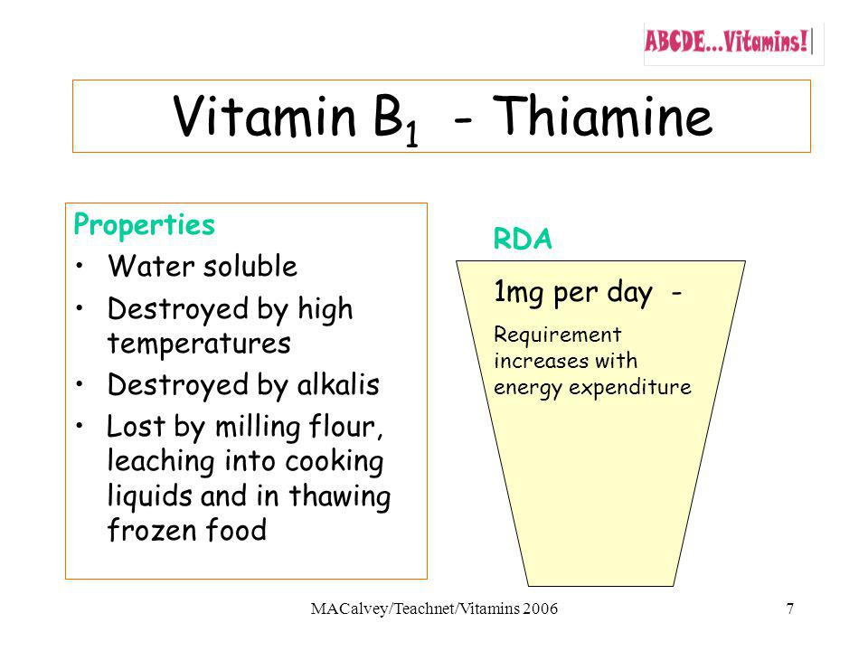 MACalvey/Teachnet/Vitamins 2006