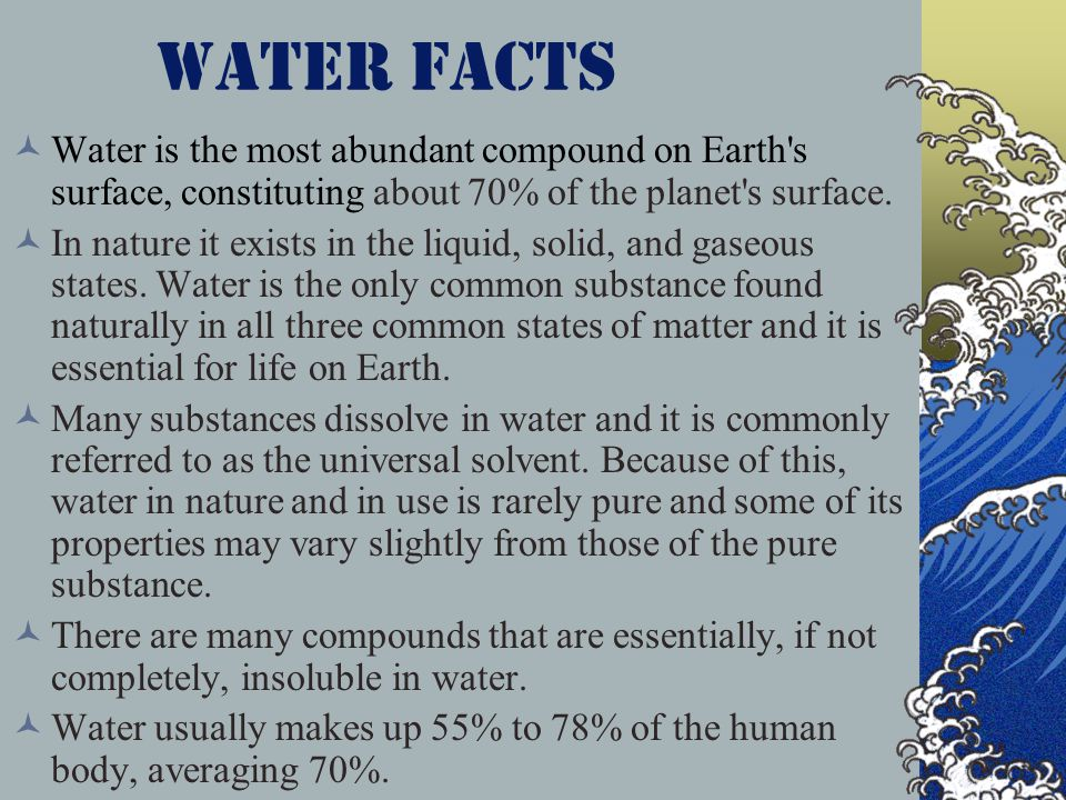 the characteristics of water that make it important to living things ppt video online download. Black Bedroom Furniture Sets. Home Design Ideas