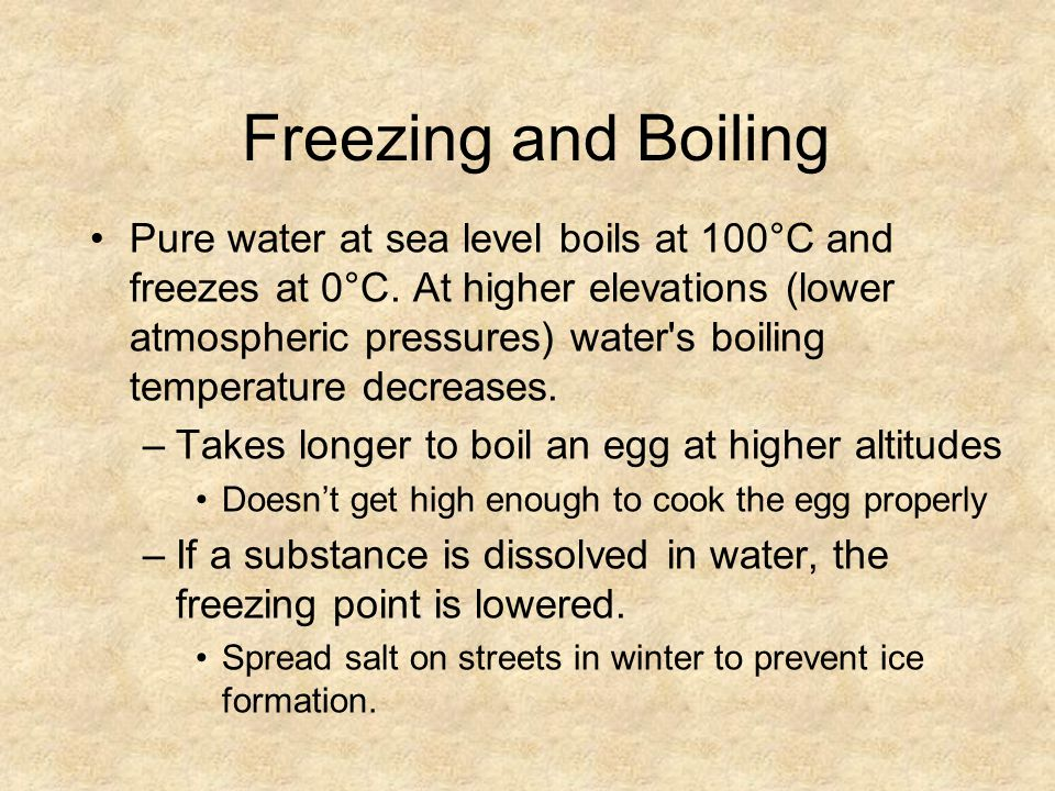 Freezing and Boiling