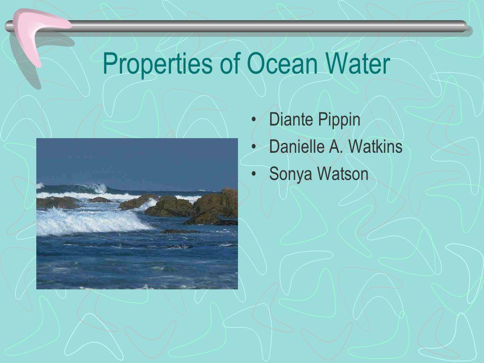 Properties of Ocean Water