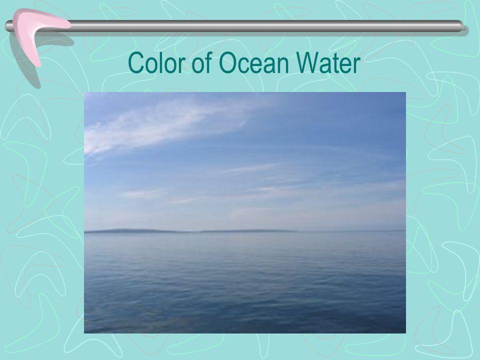 Color of Ocean Water