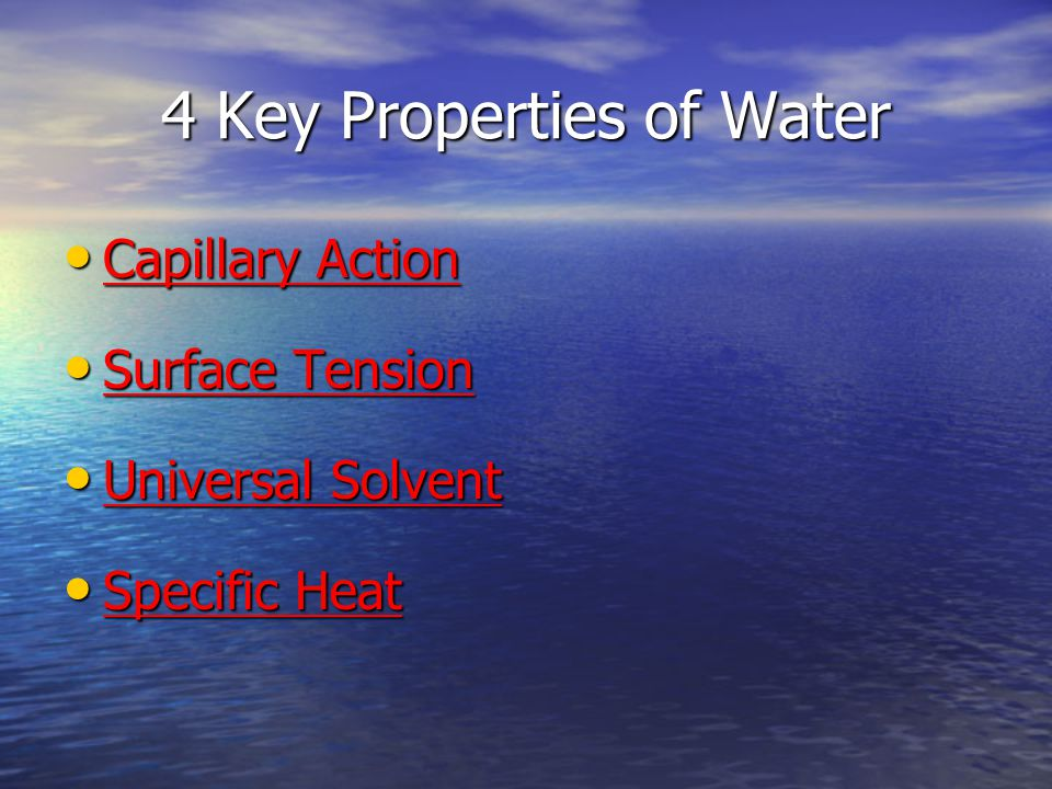 4 Key Properties of Water