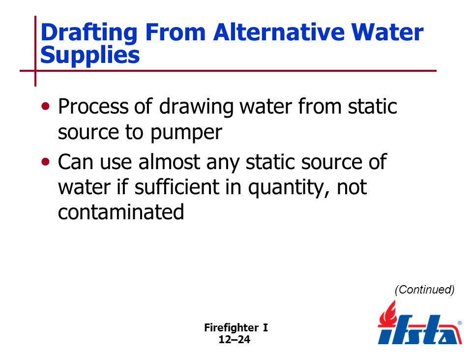 Drafting From Alternative Water Supplies