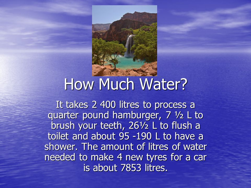 How Much Water