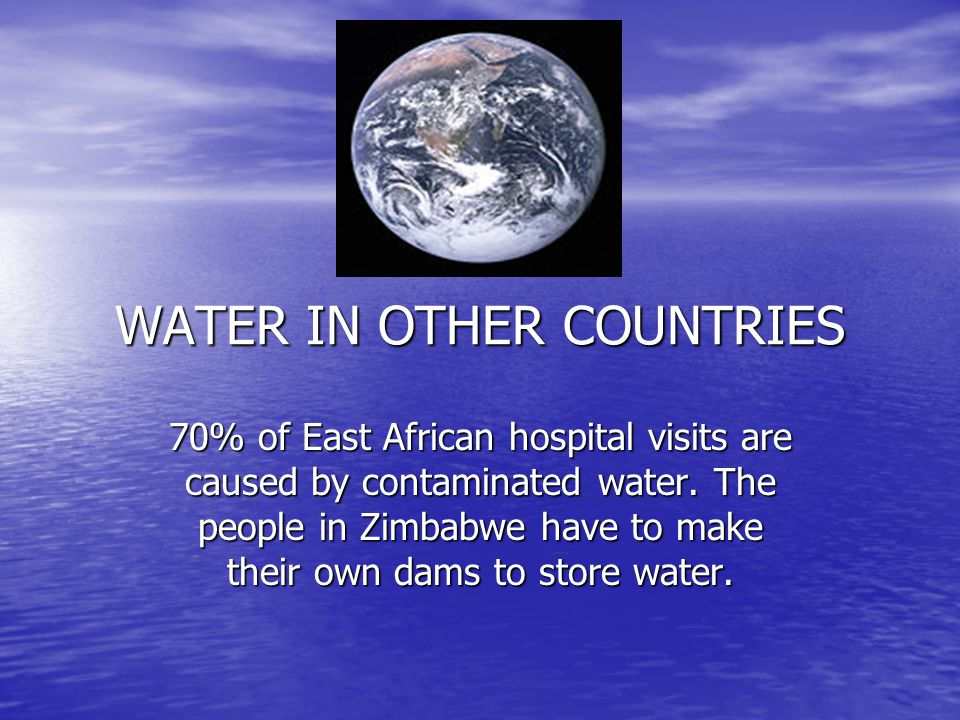 WATER IN OTHER COUNTRIES