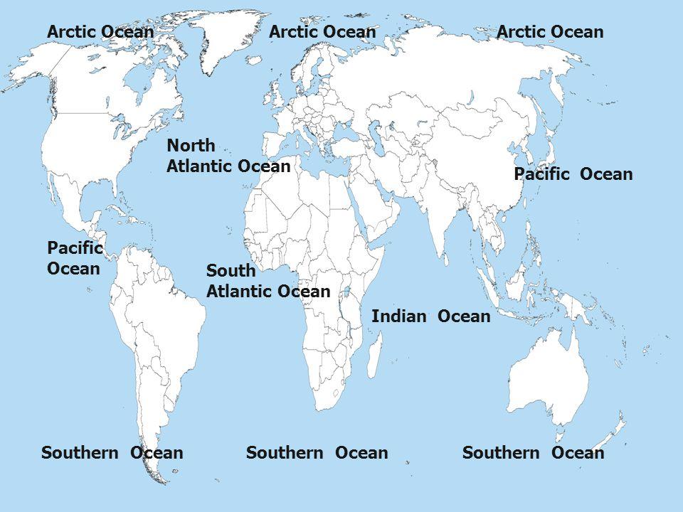 Arctic Ocean Arctic Ocean. Arctic Ocean. North. Atlantic Ocean. Pacific Ocean. Pacific Ocean.