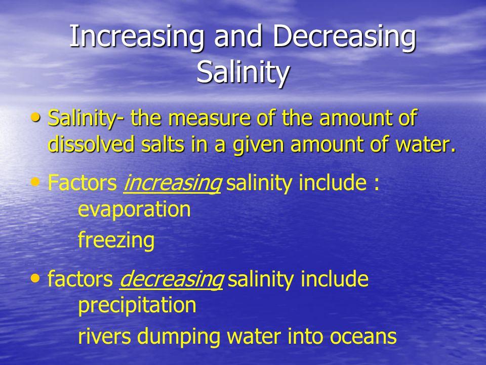 Increasing and Decreasing Salinity
