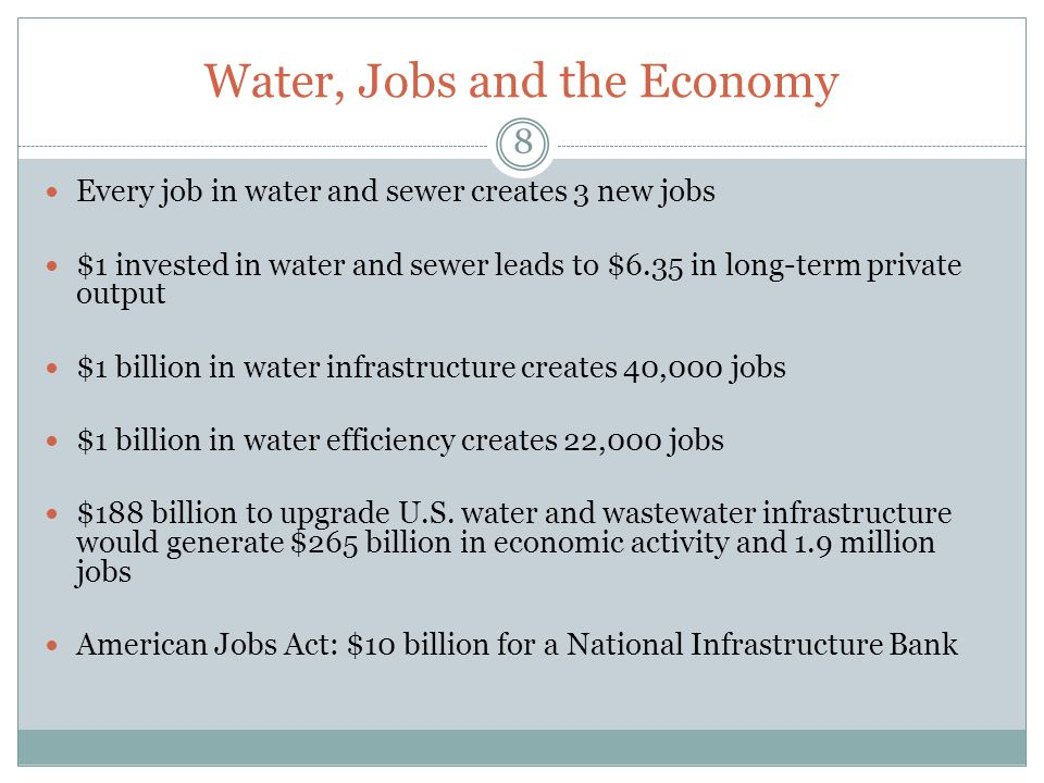 Water, Jobs and the Economy