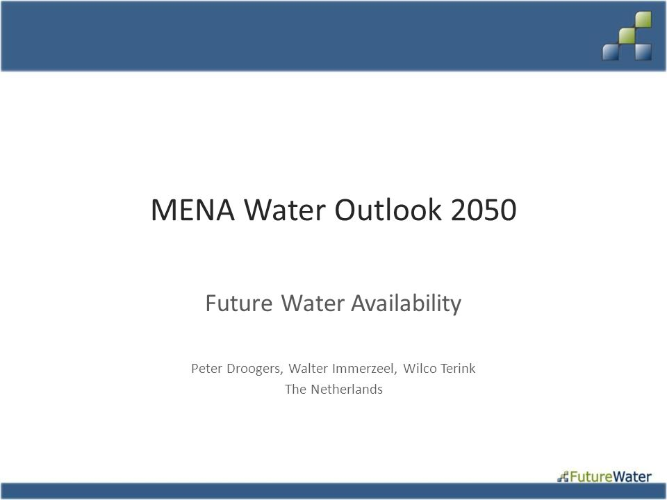 MENA Water Outlook 2050 Future Water Availability
