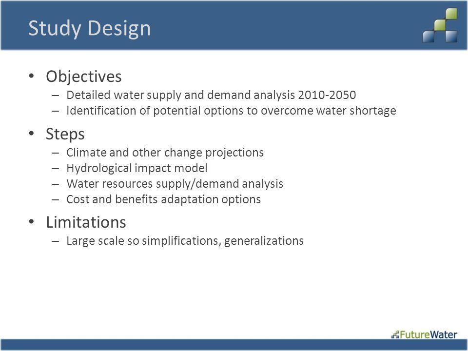 Study Design Objectives Steps Limitations