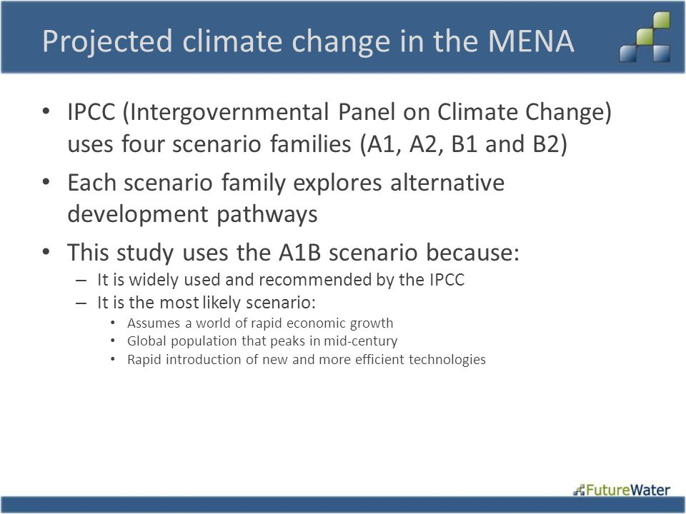 Projected climate change in the MENA