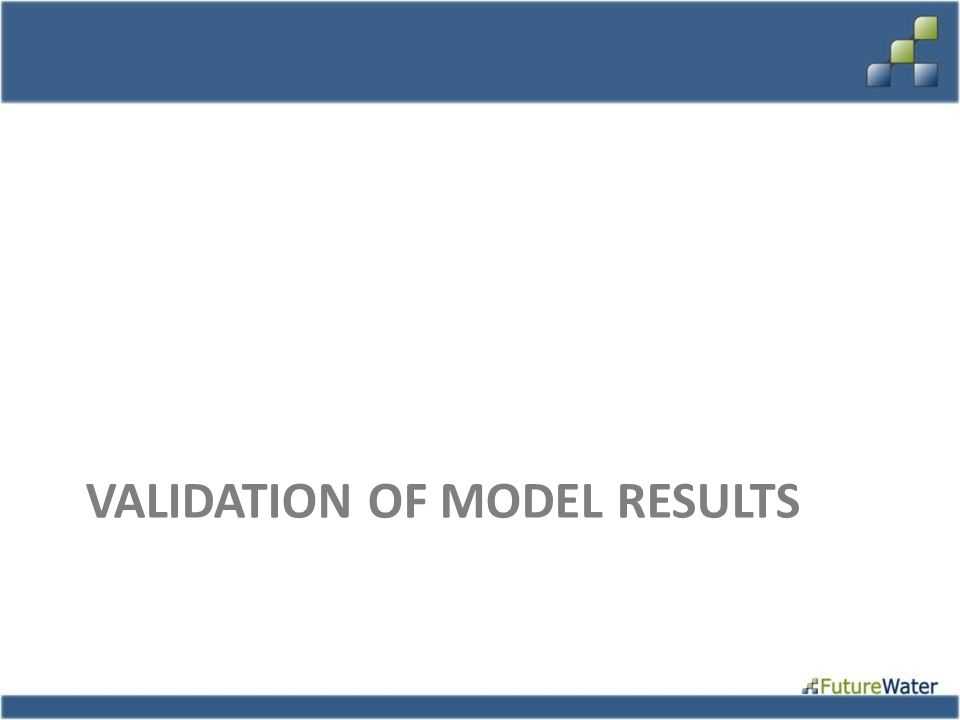 Validation of model results