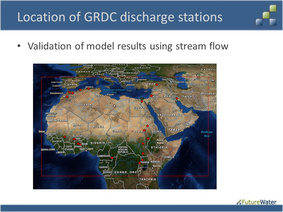 Location of GRDC discharge stations