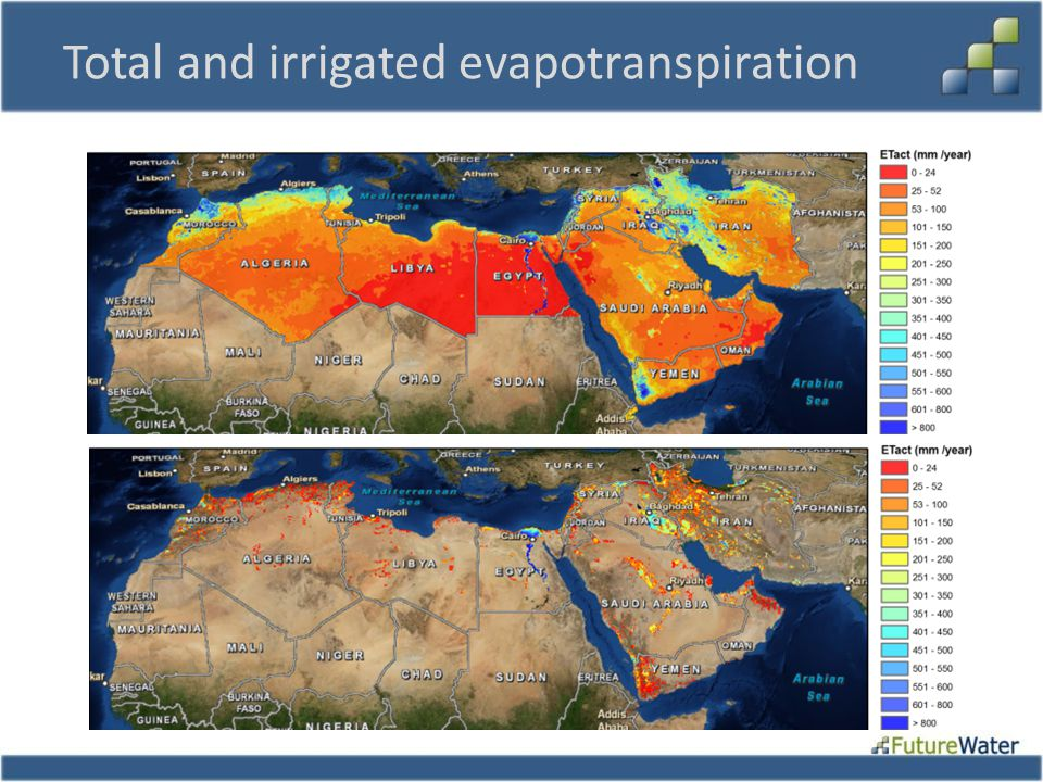 Total and irrigated evapotranspiration